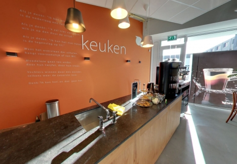 Coffee corner at iFlow in Alphen aan den Rijn