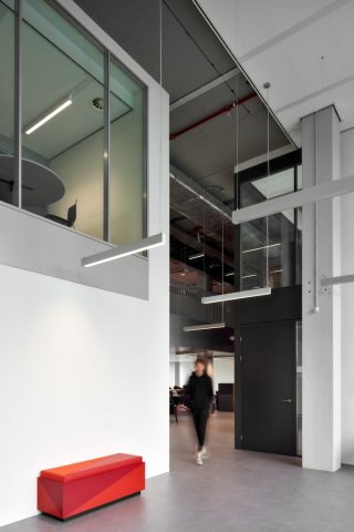 QbiQ IQ-PRO Double glass partition wall Atlas TU/e in Eindhoven
