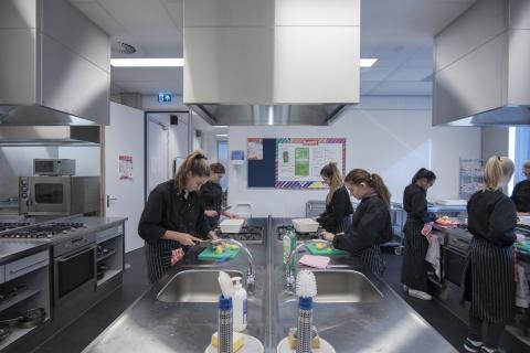 School kitchen at Herbert Vissser College