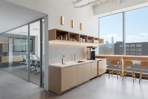 Pantry and office at Worldwide in New York