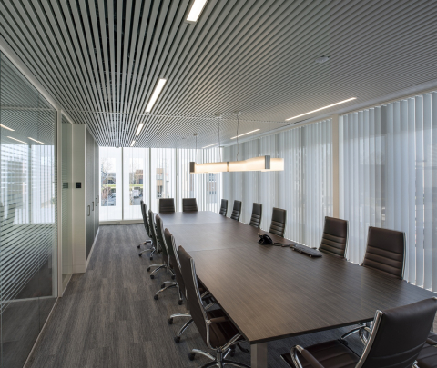 Boardroom with glass walls