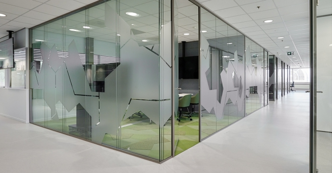 Triple glass partitions wall with extreme good acoustic values